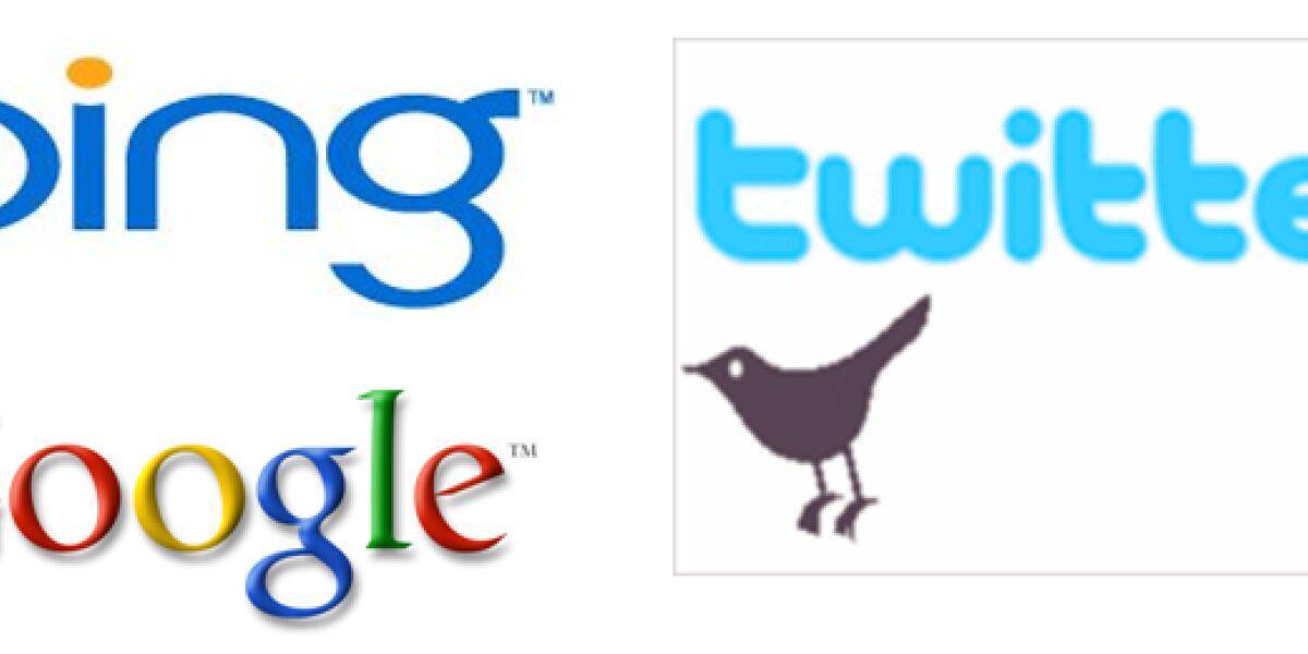 Tweets in Suchergebnissen von Bing und Google