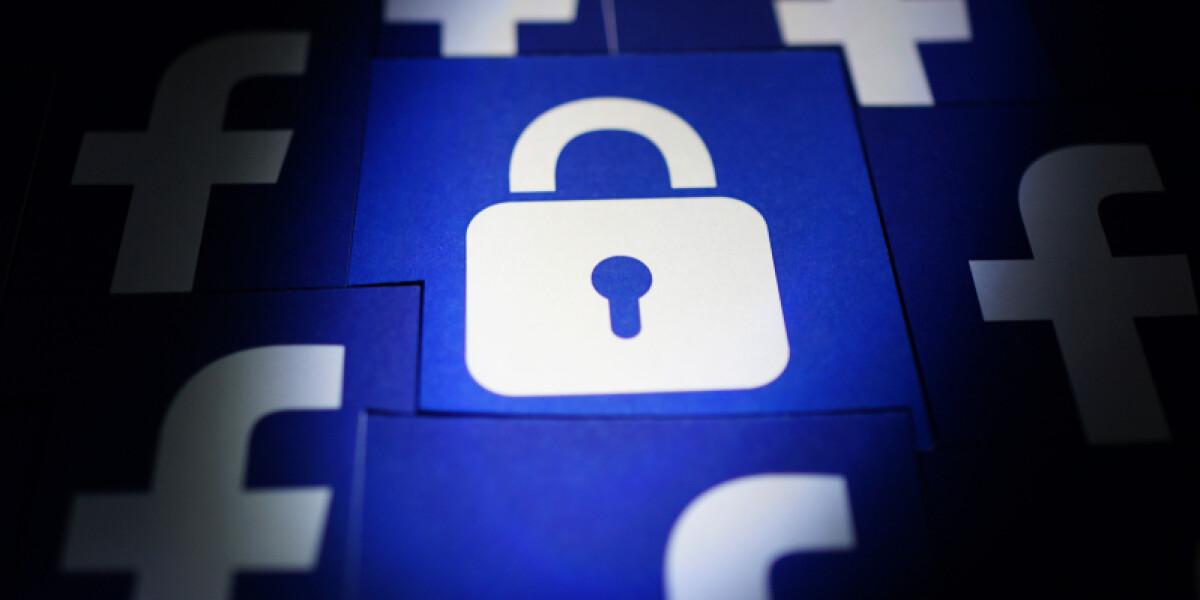 Schloss und Logo von Facebook