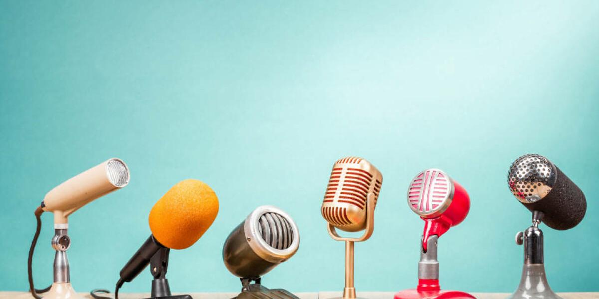 Mikrophone in einer Reihe