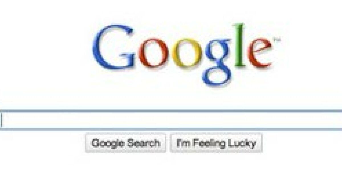 Google-Homepage noch minimalistischer