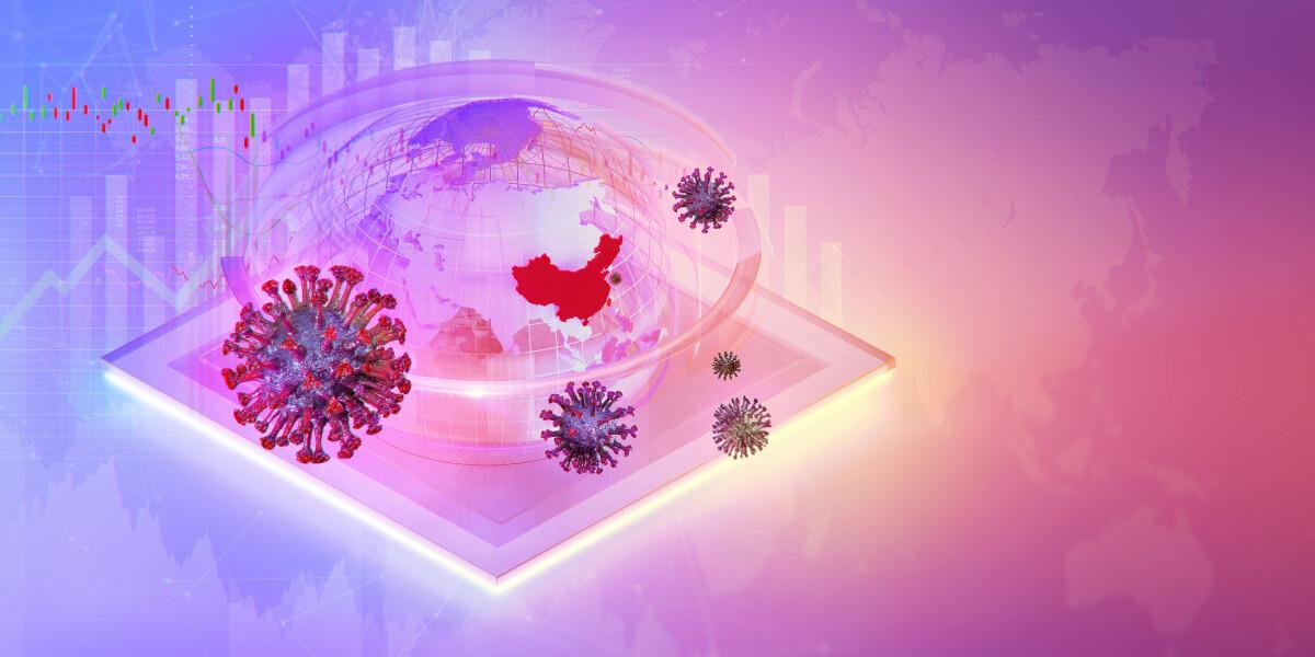 Coronavirus und die Weltkugel