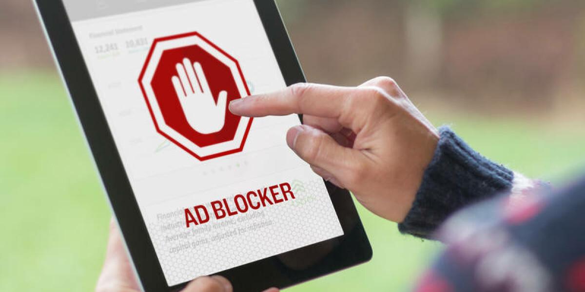Adblocker auf einem Tablet
