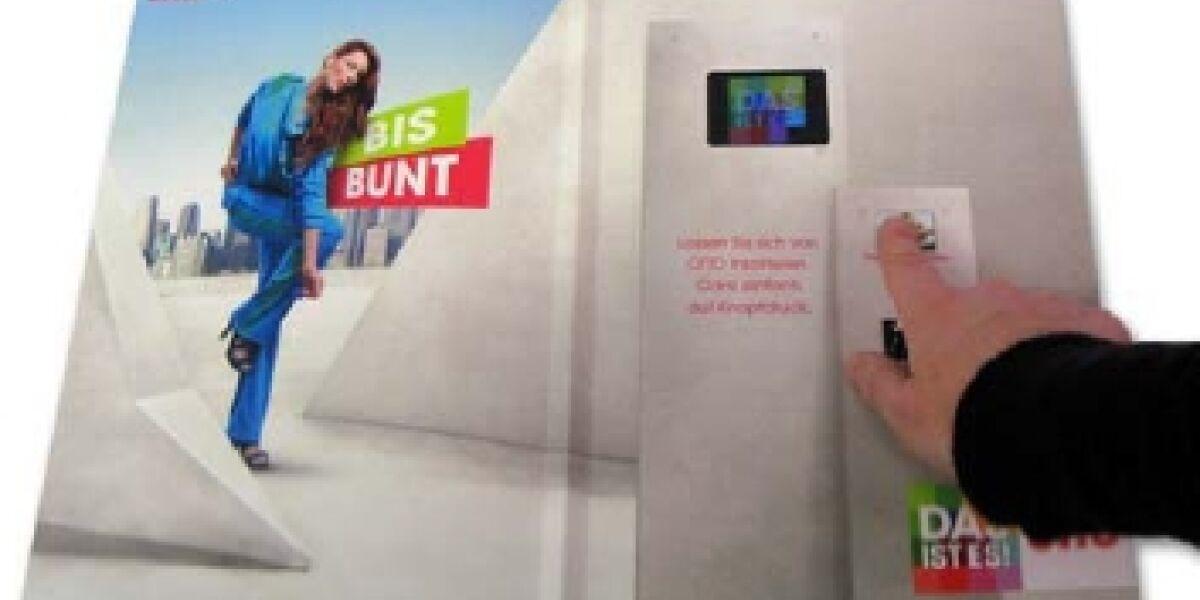 Videowerbung als Printbeilage