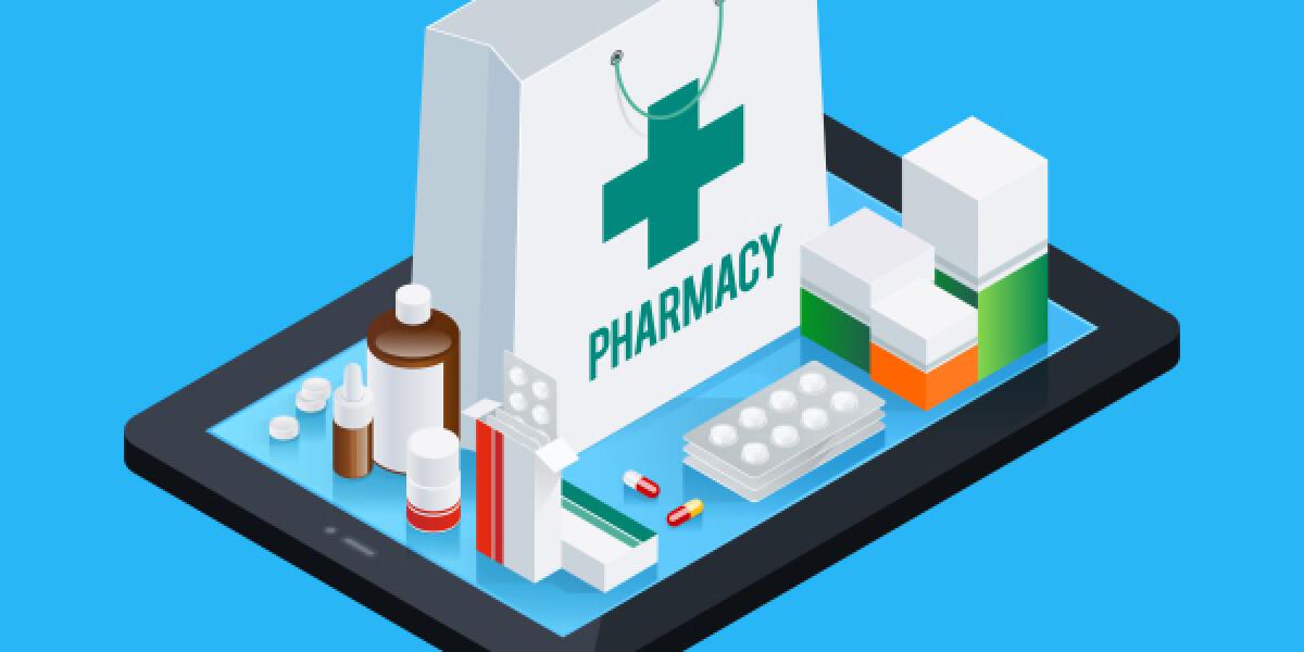 Medikamente stehen auf einem Tablet