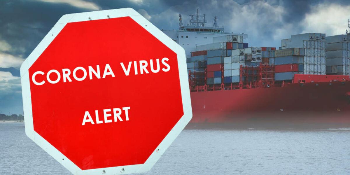 Corona-Virus steht auf einem Schild