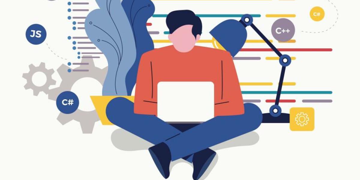 Mensch sitzt am Laptop