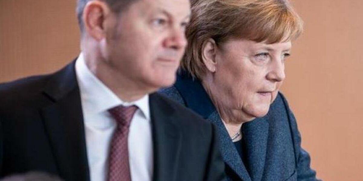 Finanzminister Olaf Scholz und Kanzlerin Angela Merkel