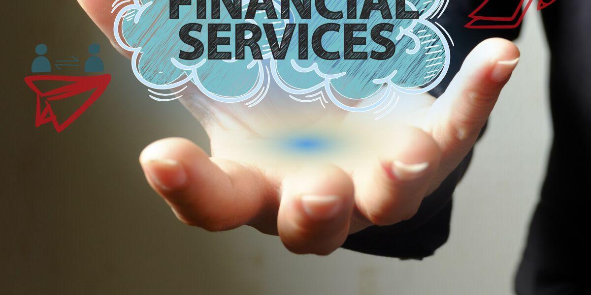 Financial Services steht in einer Wolke