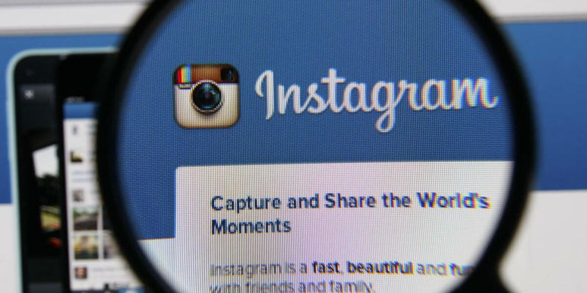 Instagram Logo durch die Lupe