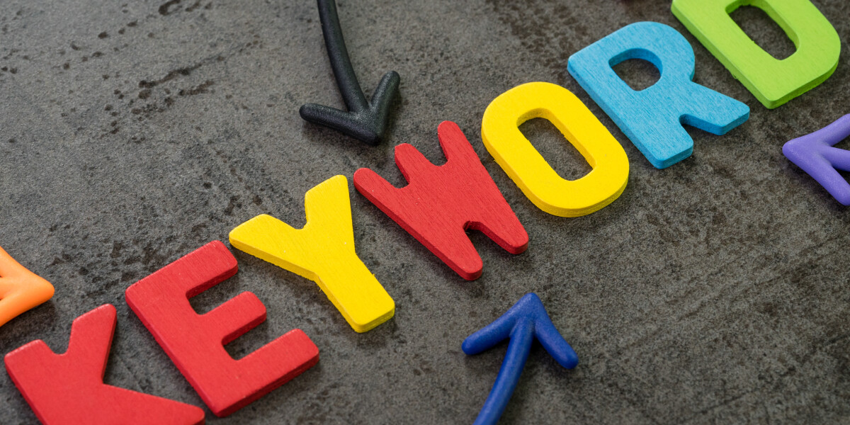 Keyword in bunten Buchstaben