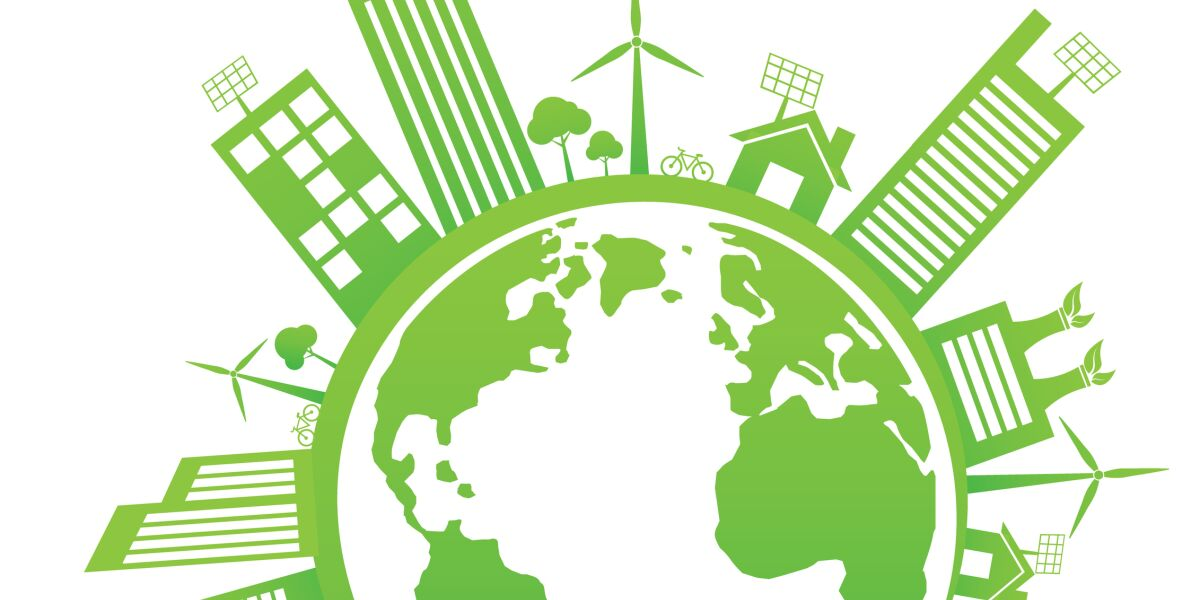 Grüne Weltkugel