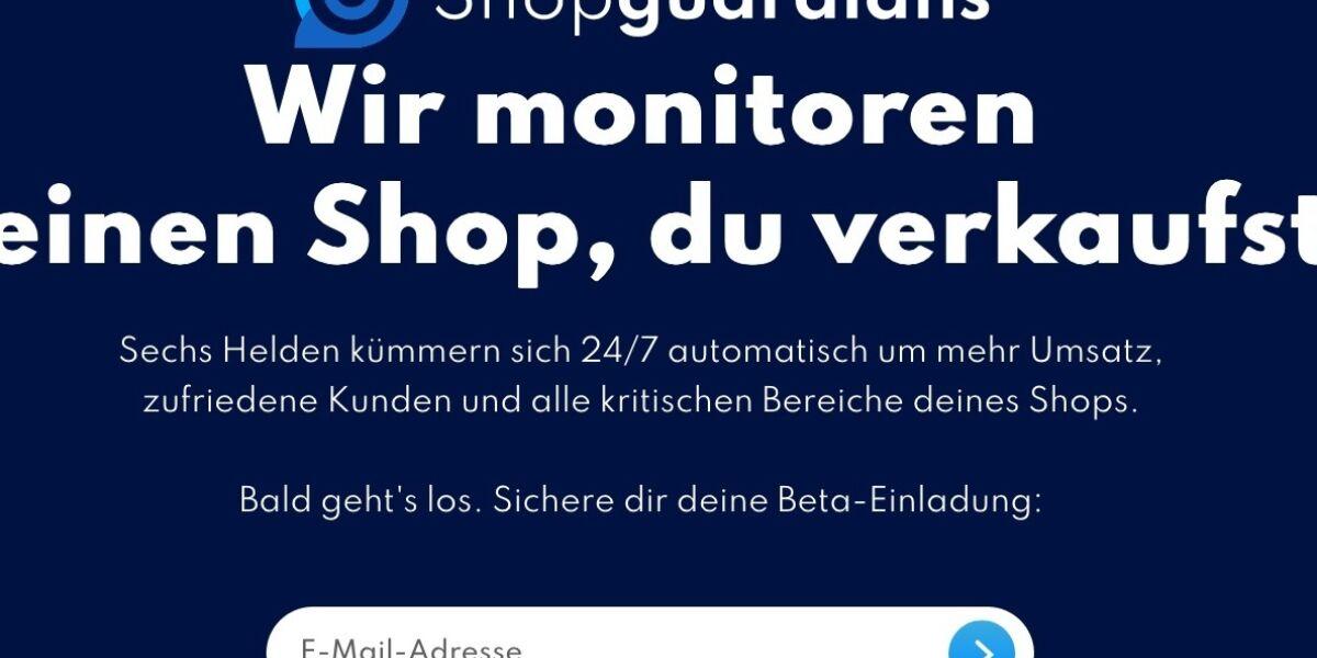 Landing Page Shopguardians.de