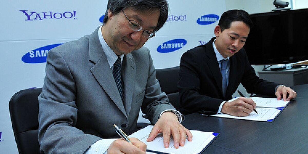 Yahoo-Dienste auf Samsung-Handys Foto: Yahoo