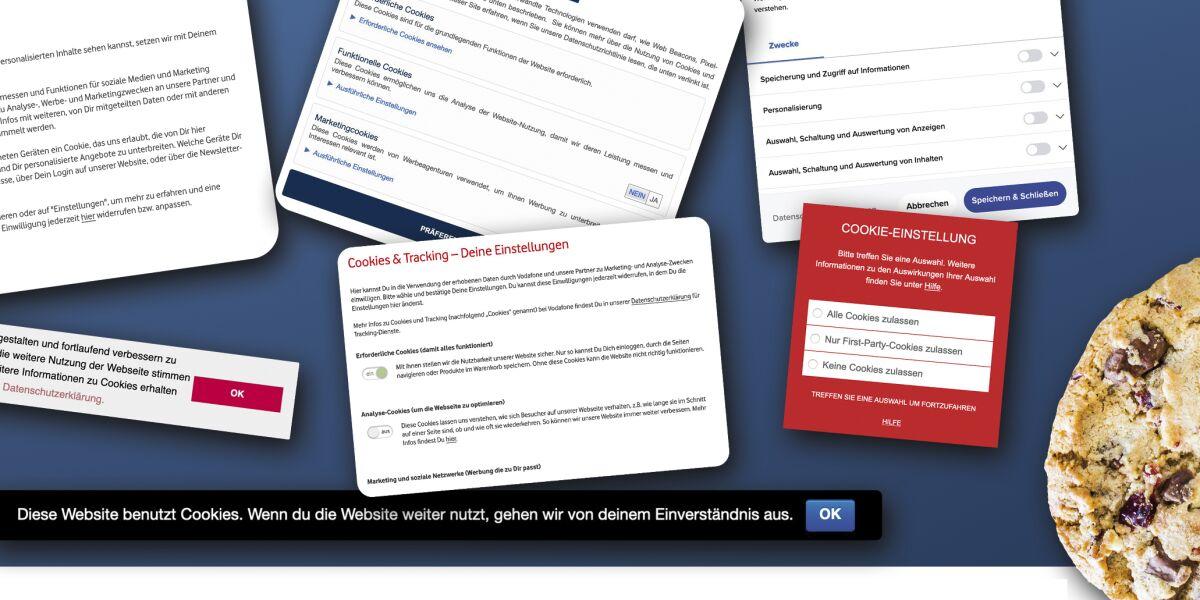 Privacy Banner auf Webseiten