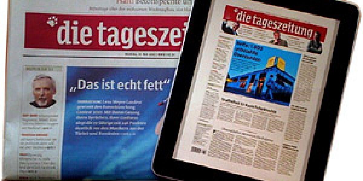taz kommt auf das iPad (Foto: taz.de)