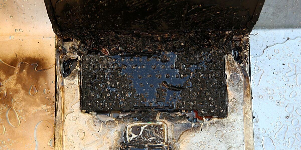 Verbranntes Notebook