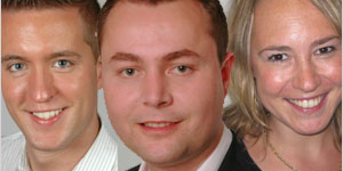 Jan Starcke, Georg Sobczak und Lydia Leven