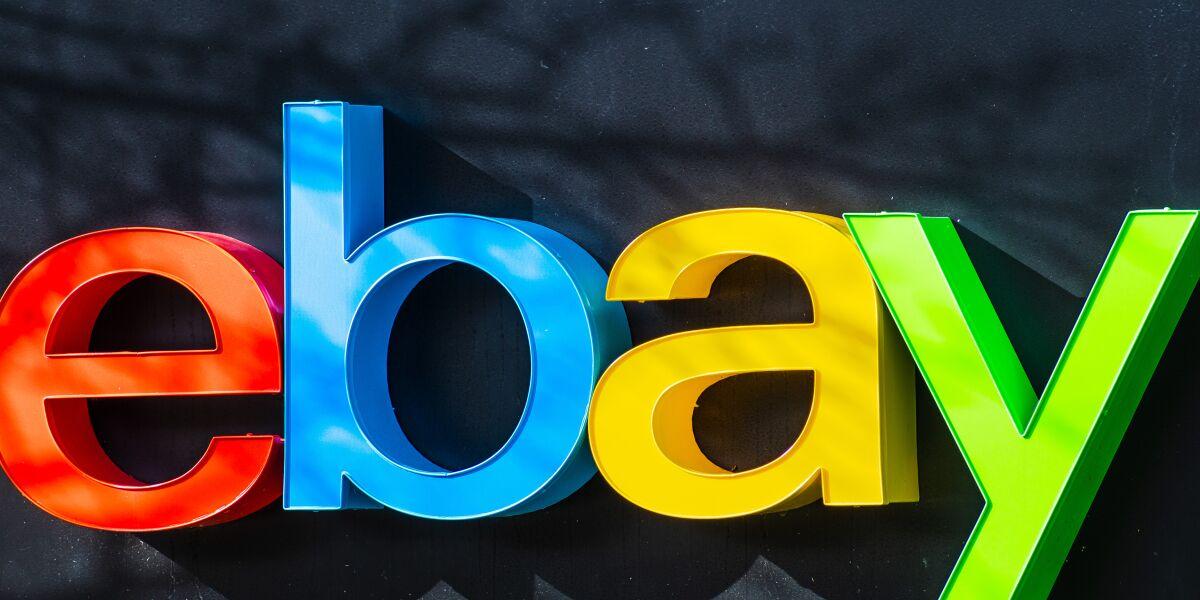 eBay-Logo am Unternehmensitz im Silicon Valley