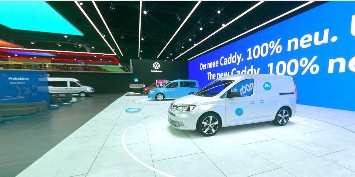 Virtuelle VW-Messehalle