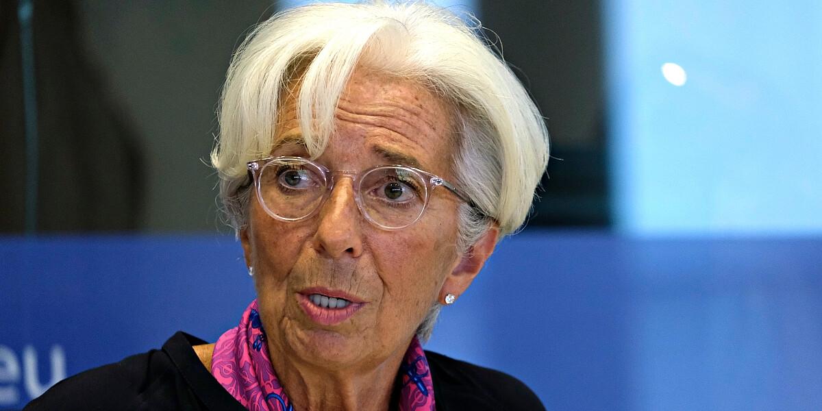 Christine Lagarde, Chefin der EZB