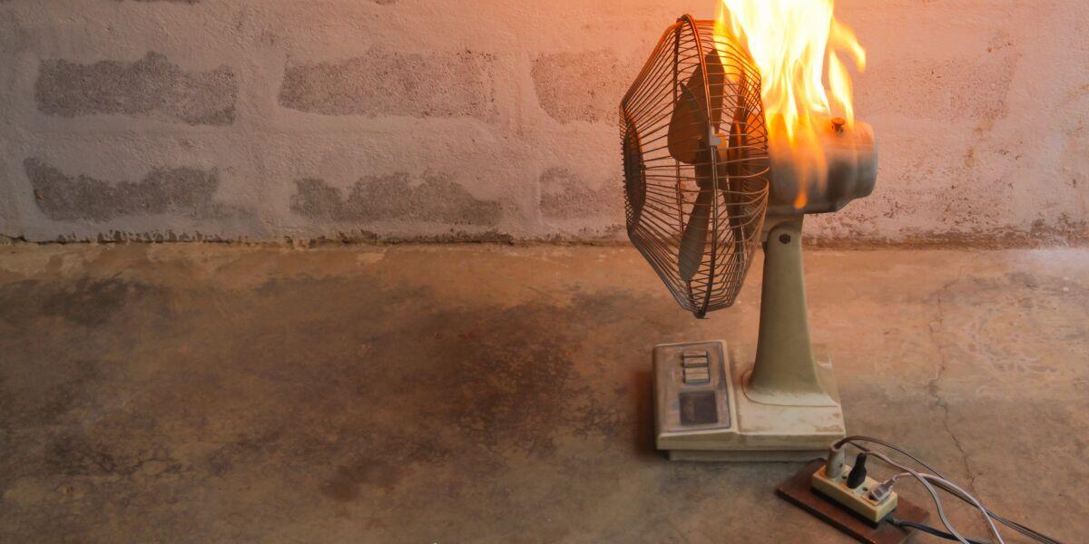 brennender Ventilator