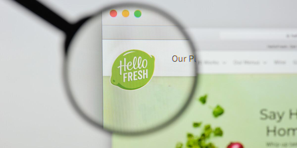 Hello Fresh Logo auf Website