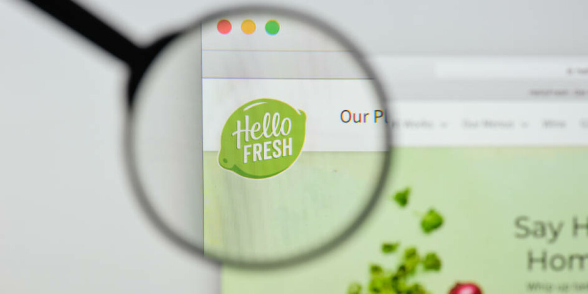 Hello Fresh Logo auf Website
