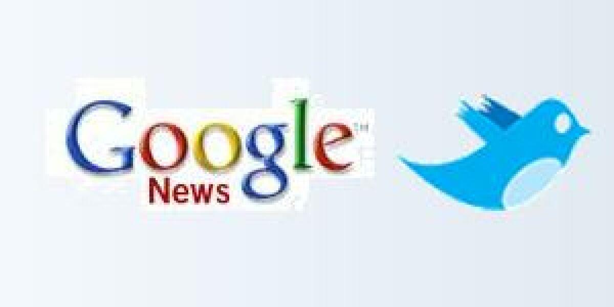 Twitter-Test auf Google News