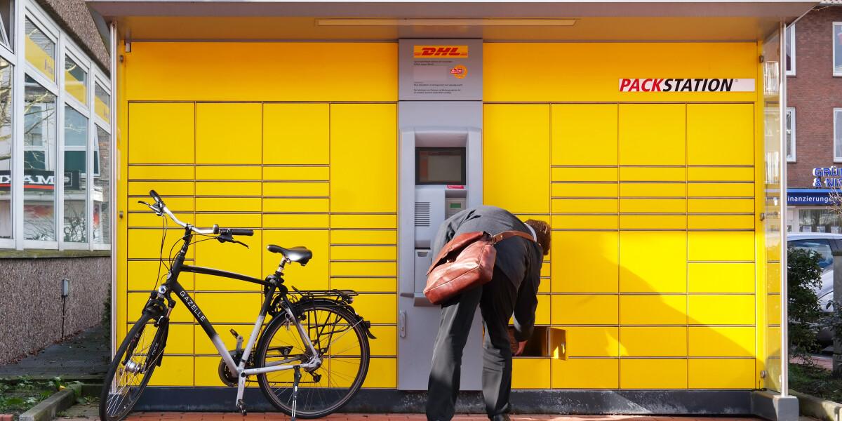 Paketboxen Abholung Versenden Mitnahme von Paketen an Packstationen