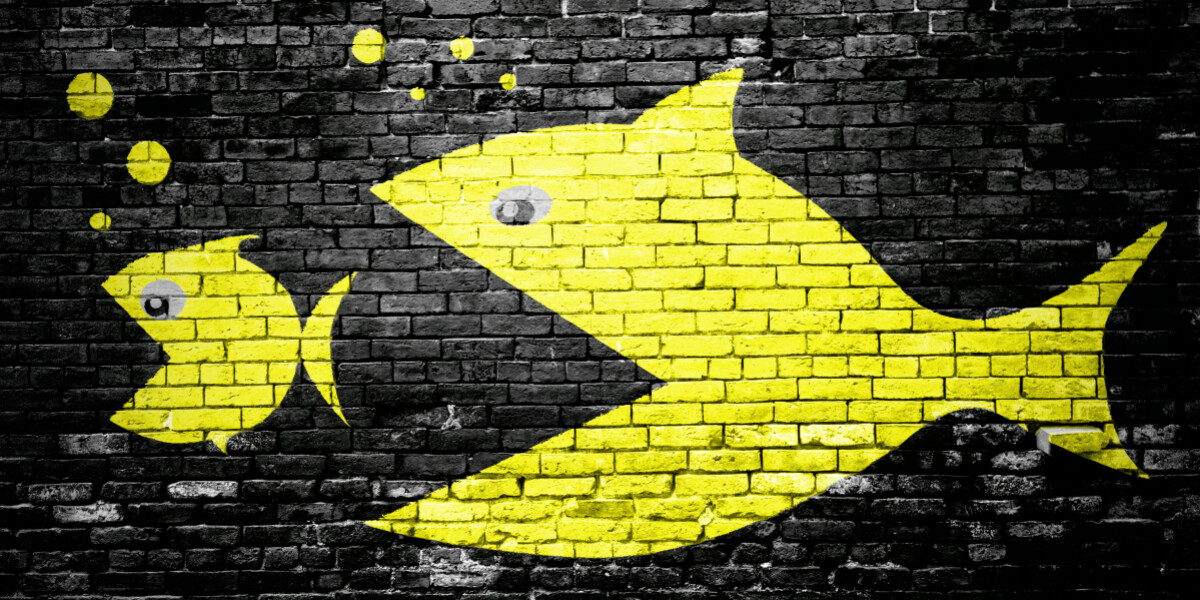 größerer Fisch frisst kleineren