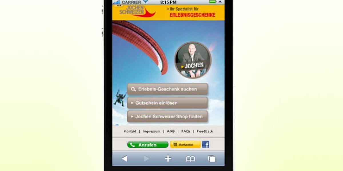 Jochen Schweizer launcht Mobilportal