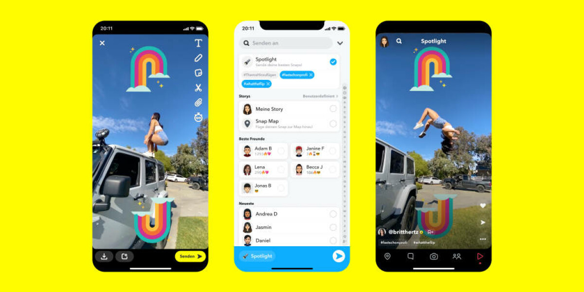 Spotlight neues Feature bei Snapchat