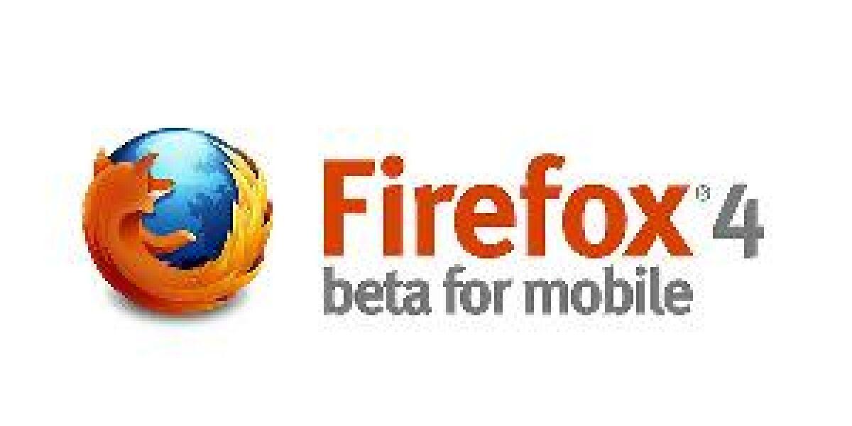 Betaversion für mobiles Firefox 4