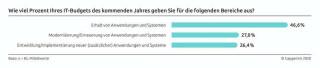 Die Ausgabenbereiche für IT-Budgets 2021