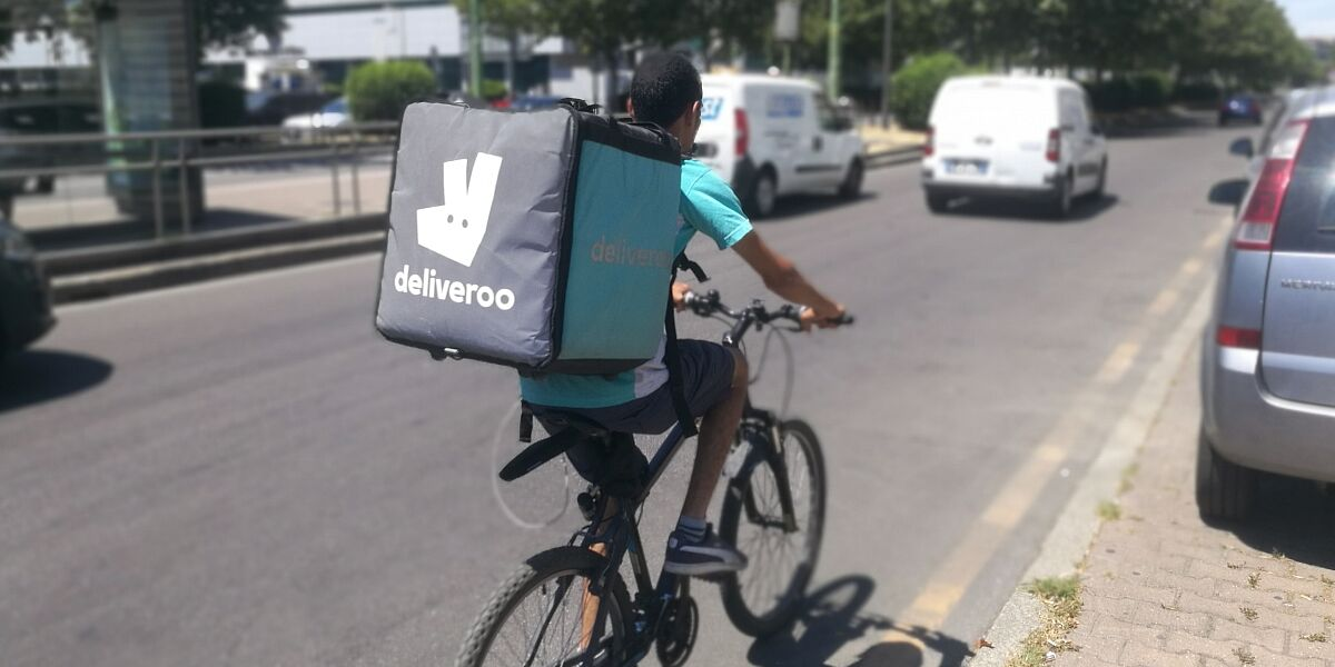 Deliveroo-Lieferant in Mailand