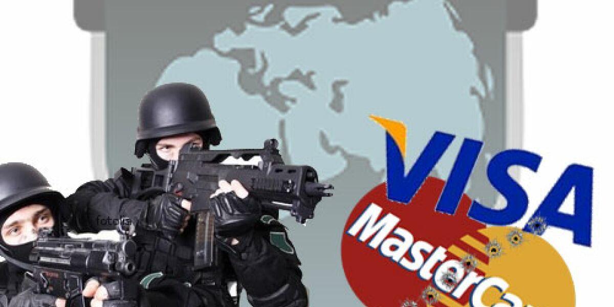 Hacker attackieren visa, mastercard + Co.