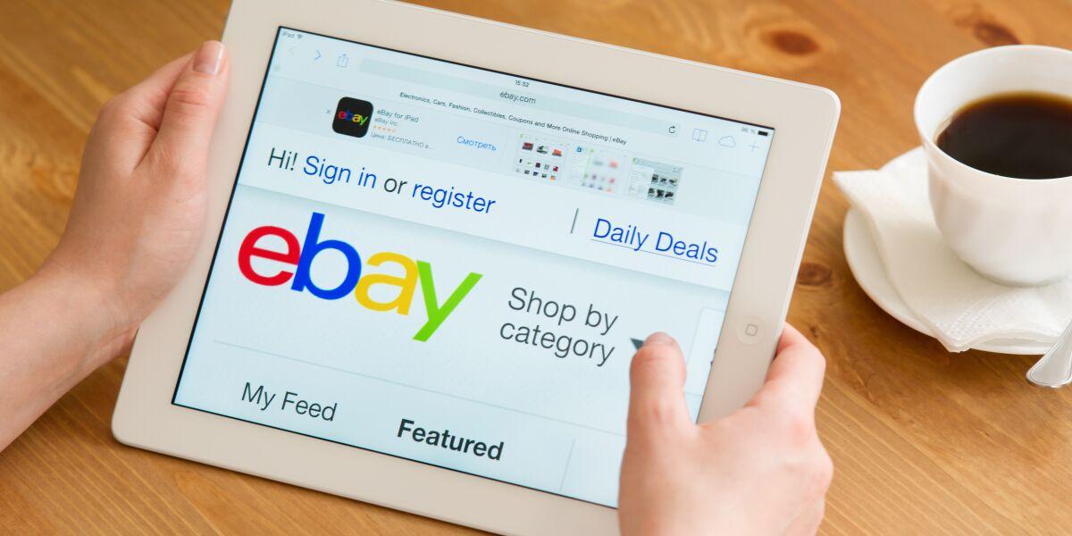 eBay auf Tablet