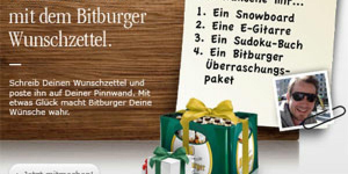 Bitburger launcht Wunschzettel-App