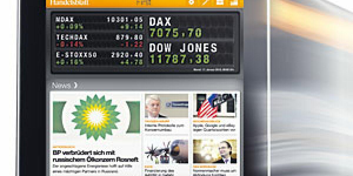 Handelsblatt startet iPad-App