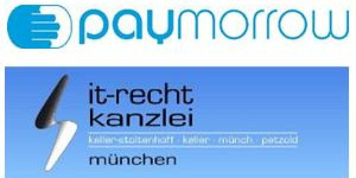 paymorrow kooperiert mit IT-Recht Kanzlei