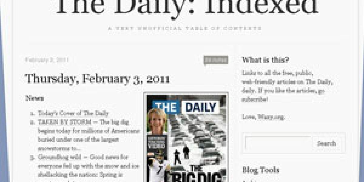 Ein Index für The Daily