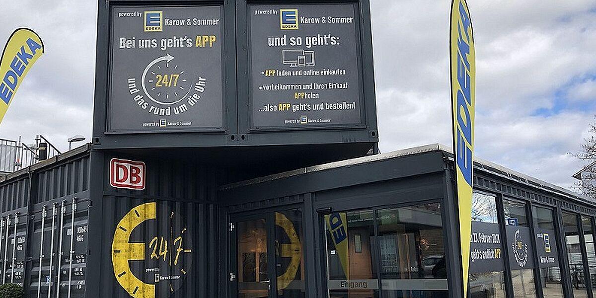 Automatischer Supermarkt Bahn Edeka