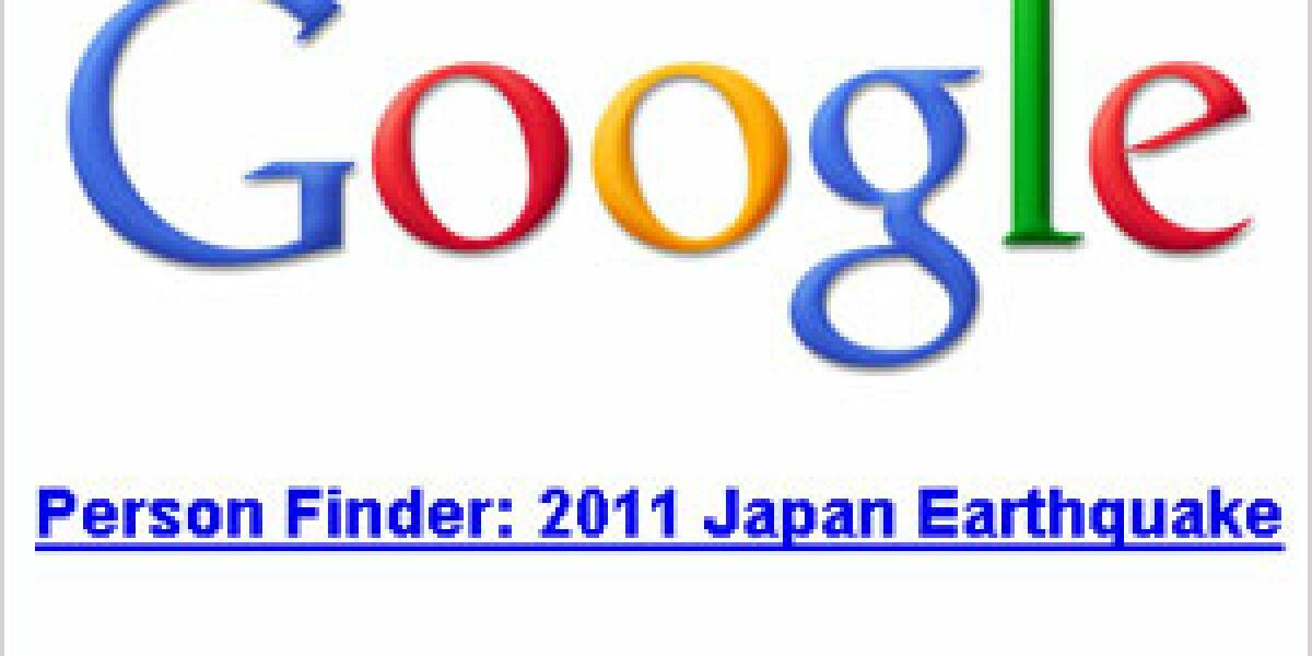 Google startet Person Finder nach Erbeben vor Japan