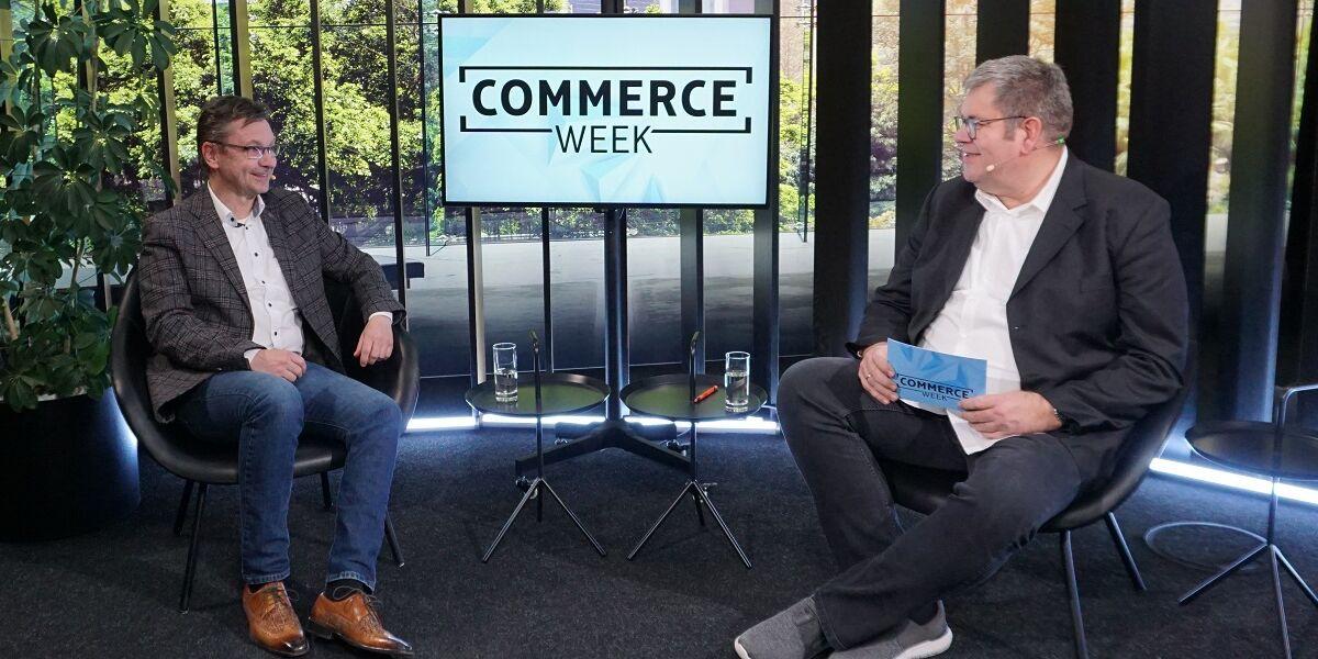 Jörg Mutschall von der Münchner Bank bei der COMMERCE WEEK