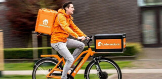 Lieferando-Fahrradbote