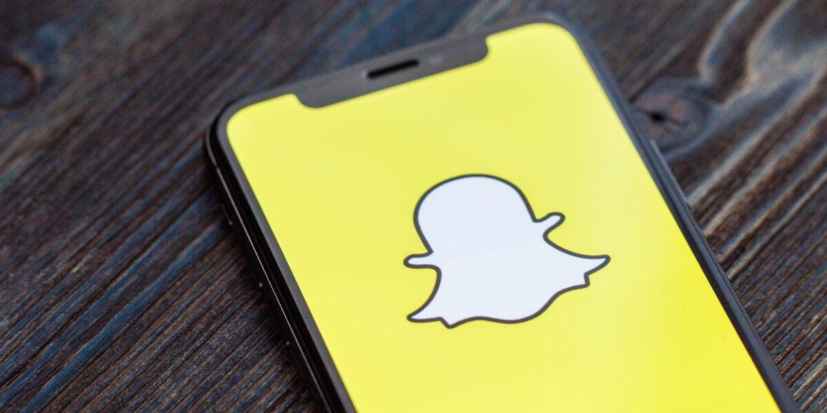 Snapchat-Logo auf Smartphone