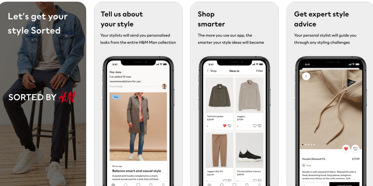 Sorted by H&M App