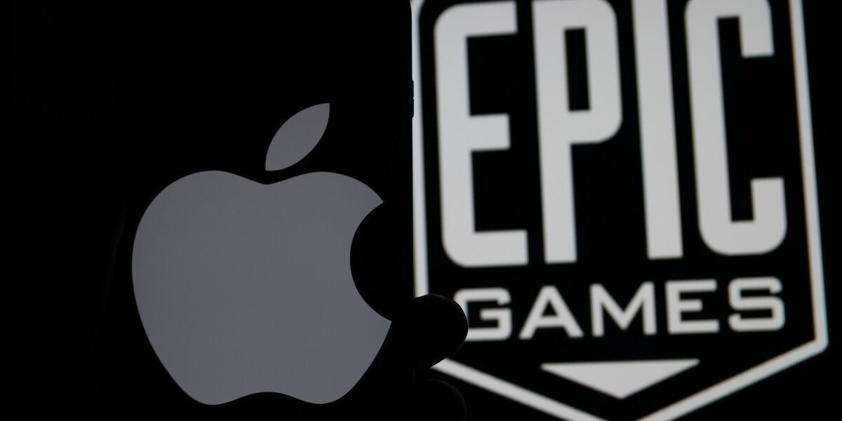 Apple Logo und Epic Games Logo