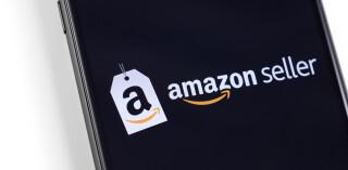 Amazon Seller Logo auf Smartphone-Screen