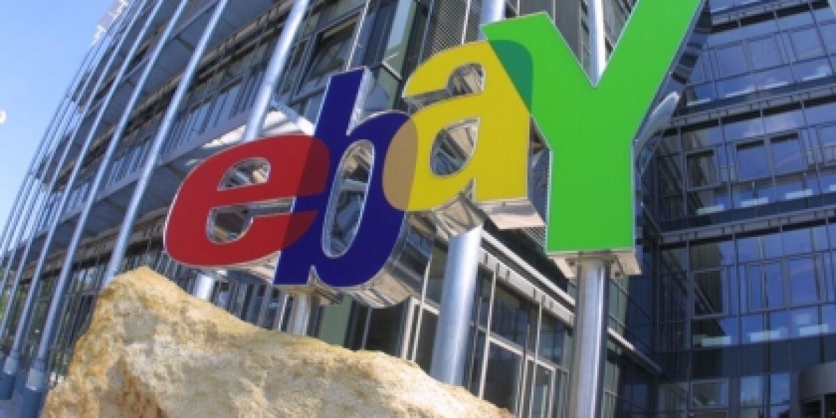 eBays erstes Jahresquartal mit guten Zahlen